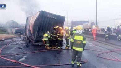 Photo of Tanker Explodes On Otedola Bridg